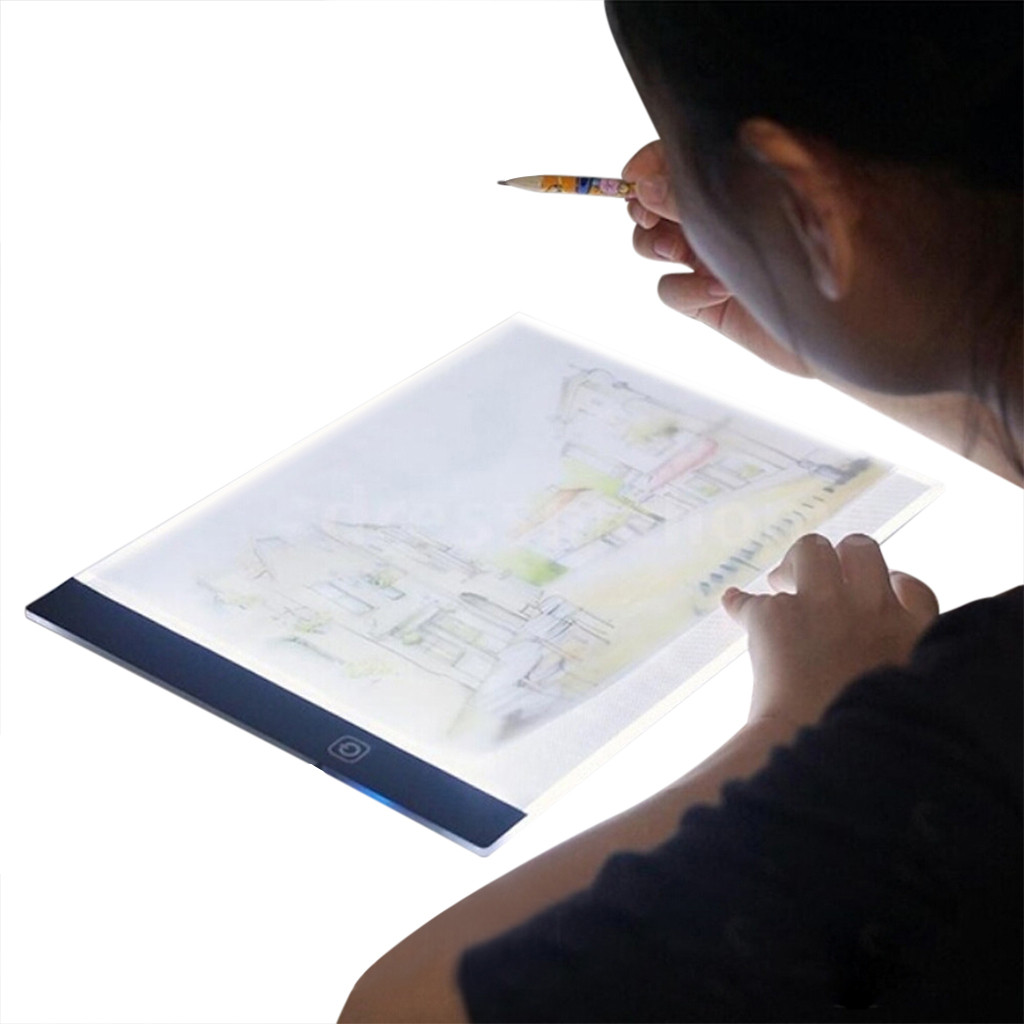 A5 LED Digital Tablet LED Light Box Touch Control Dimmable Drawing Tracing Animation Copy Board Table Pad Panel Plate
