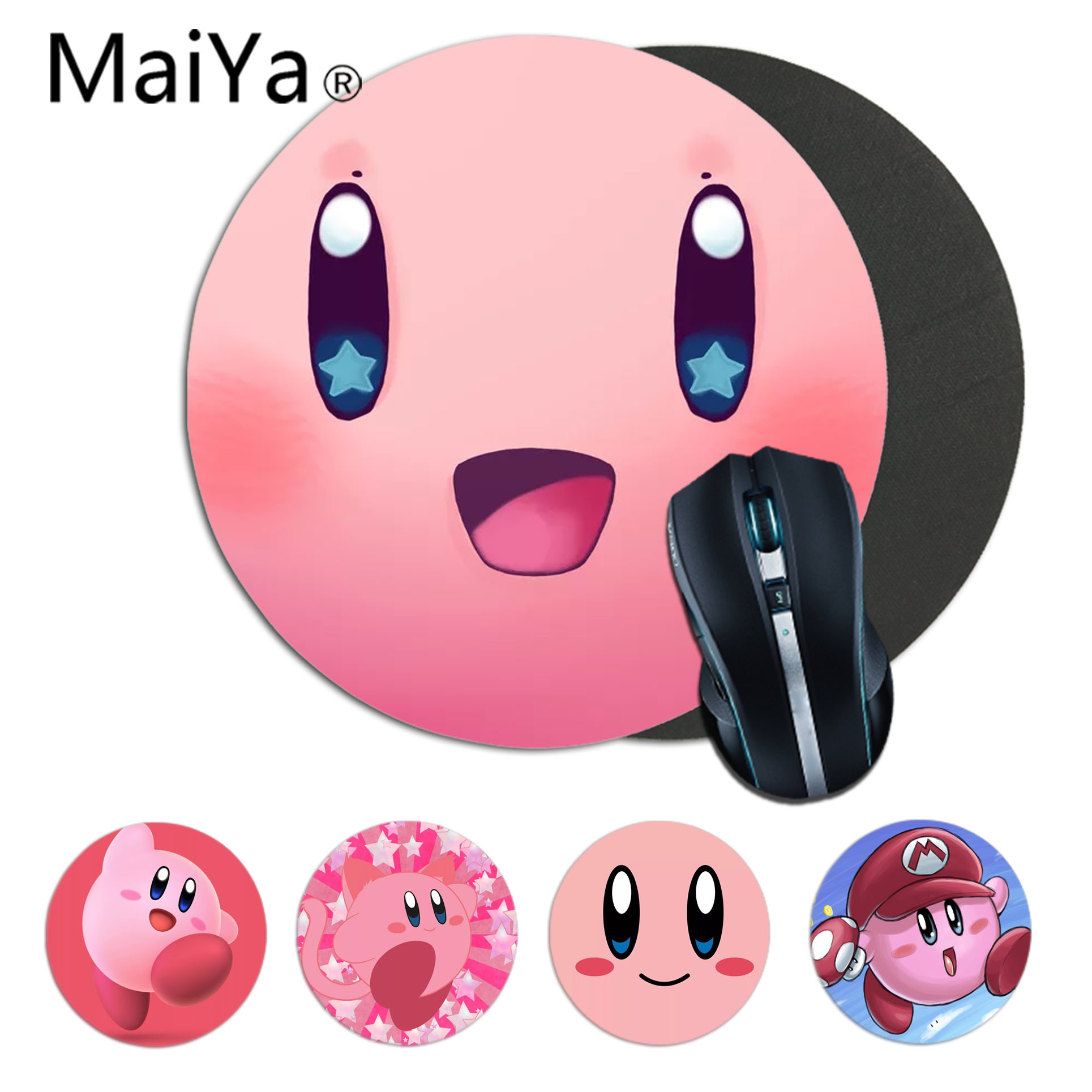 MaiYaCa My Favorite Custom Skin Kirby Gamer Speed Mice Retail Small Rubber Mousepad Gaming Mousepad Rug For PC Laptop Notebook