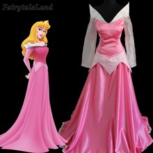 Sleeping Beauty Dress Cosplay Aurora Costume Halloween Party Pink Dress Sexy Adult Women Costume Casual Suit(China)