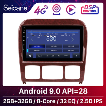 Seicane 2din Android 8.1 Car Multimedia Player for 1998-2005 Mercedes Benz S Class W220 S280 S320 S350 S400 S430 S500 S600 AMG image