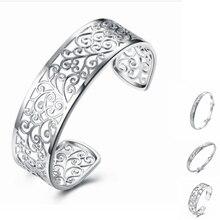 Simple Fashion 925 Sterling Silver Bracelets Open Bracelets