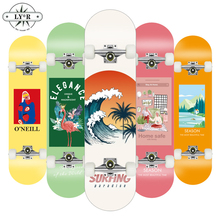 New Hot LY*R 80*20CM Skateboard Double Upright Four Wheel Skateboard Skateboard Deck Penny Board Long Board Long Board Deck