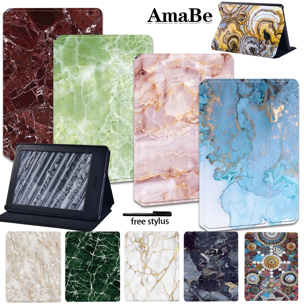 Marble Anti-Dust Soft Leather Cover Case For Amazon Kindle 10th Generation /Kindle 8th Generation Print Tablets Case