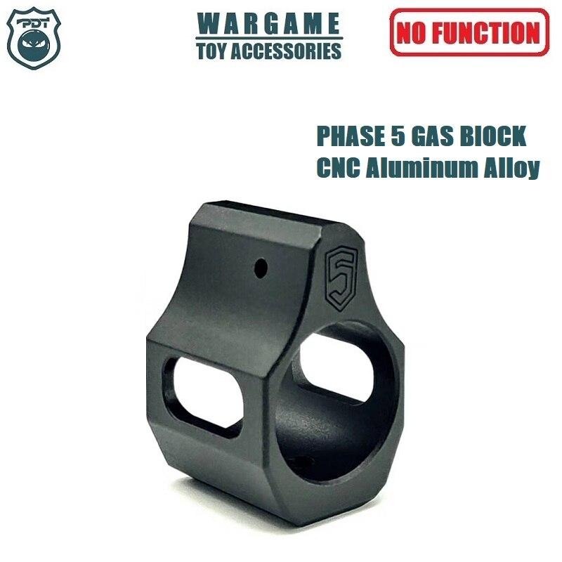 PHASE 5 Metal LOW PROFILE GAS BLOCK AR AR15 M4 For Toy Gel Blaster Airsoft AEG GBB Toy Gun