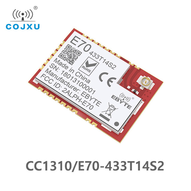 CC1310 433MHz IOT SMD ebyte E70 433T14S2 rf Wireless uhf Module Transmitter and Receiver 433 MHz RF Module UART
