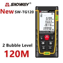 Sndway laser rangefinder medidor de distância 120m 100m 80m 60m 40m laser range finder build medida digital régua trena roleta