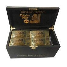 Zimbabwe Gold Banknotes $Z100 Trillion/100 Quintrillion/5 Octillion/100 Decillion Dollar Fake Money Paper Business Gift 1200pcs