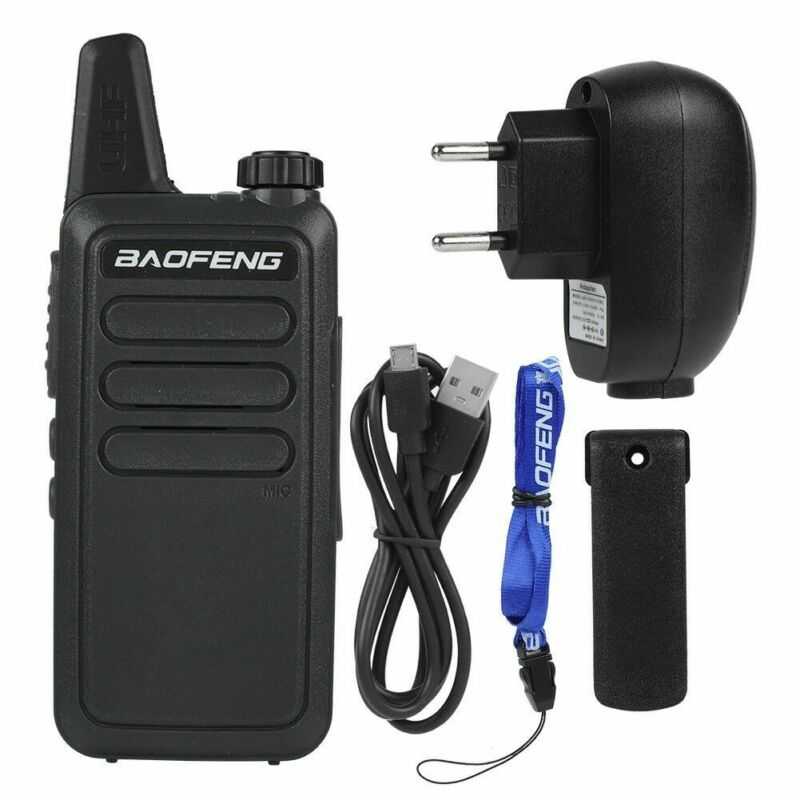 BF-R5 Baofeng Walkie-Talkie Mini Radio Hands-Free Portable LCD Display DC 3.7V Walkie Talkie 50km Baofeng Uv-5r