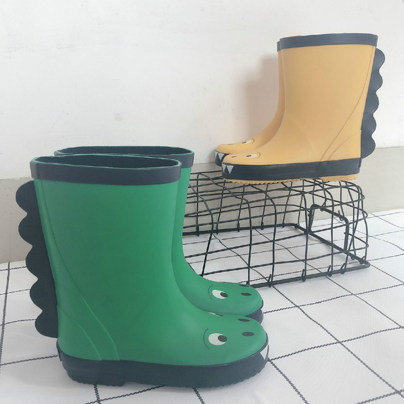 2020 Children's Boys Girls'fashionable Small Dinosaur Rain Shoes 3D Cute Fashionable Waterproof Skid-pro Kids Rain Boots