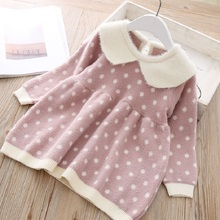 Kids Baby Tutu Dresses Long-Sleeve Polka Dot