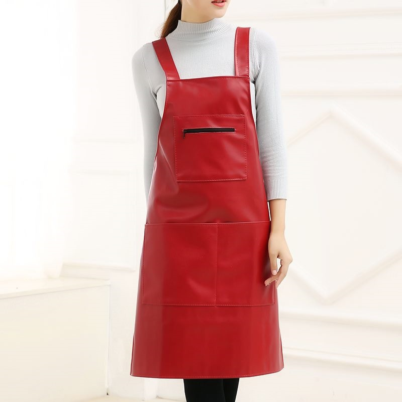 Acid base One Size Thick Wear Resistant Oil Resistant Stone Material Korean style Extra large Lengthen Apron Resistance Oxford D|Oversleeves| |  - title=