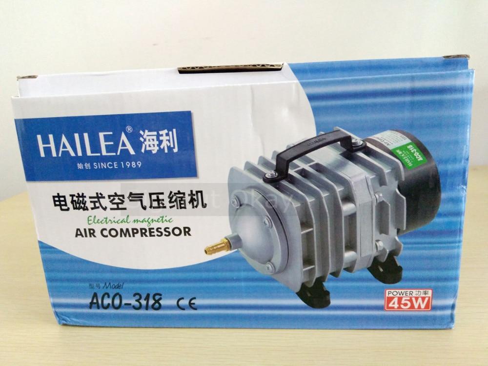 70L/min 45W Hailea Electromagnetic Air Compressor Aquarium Air Pump,Aquarium Oxygen Pond Air Pump