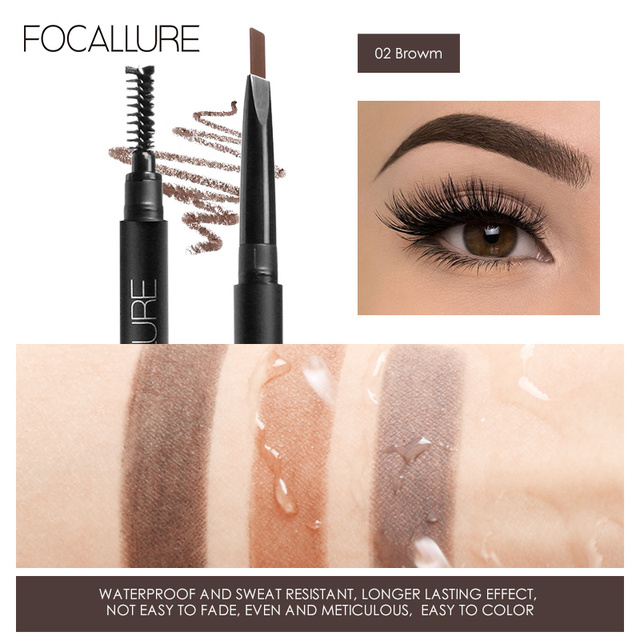 FOCALLURE 5pcs Makeup Sets include 14 colors Eyeshadow Eyebrow Eyeliner Mascara Cosmetic Kit 4