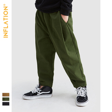 INFLATION KIDS Cargo Pants Kids Streetwear Boys 5T - 15T Boy Loose Fit In Black