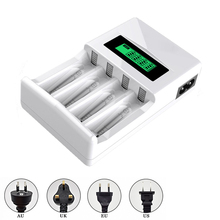LCD Battery charger for aa nimh nicd rechargeable battery intelligent charger for aa aaa nimh nicd 1.2v batteria