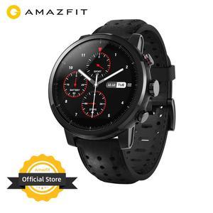 Image 1 - 2019 새로운 Amazfit Stratos + 전문 스마트 워치 정품 가죽 스트랩 선물 상자 사파이어 2S 안드로이드 iOS 전화 번호