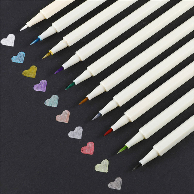 10 Color Fabricolor Write Brush Pen Calligraphy Paint Marker Pens Set Drawing Painting Watercolor Art Brush Pen 04429 4