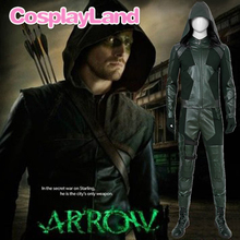DC Arrow Season 8 Cosplay Costume Green Arrow Oliver Queen Arrowverse Adult Jacket Halloween Costumes For Men Custom Made цена и фото