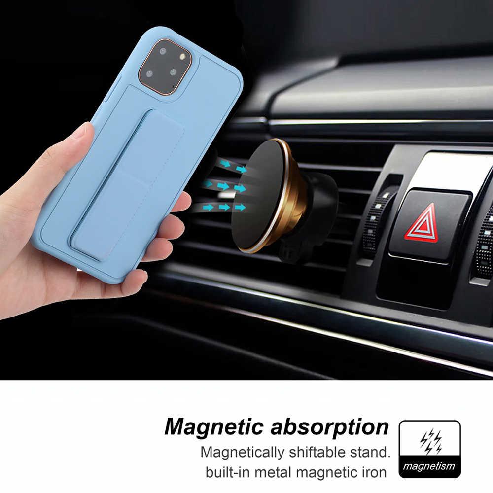 สี Candy ผู้ถือโทรศัพท์สำหรับ iPhone 11 PRO MAX X XS MAX XR 6 6S 7 8 PLUS วงเล็บสายรัดข้อมือซิลิโคนอ่อน