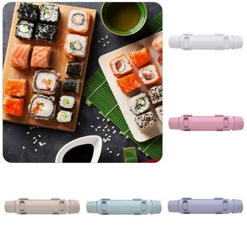 Kitchen Gadget Sushi Maker Roller Japanese Rice Mold Sushi Bazooka Vegetable Meat Rolling Tool DIY Sushi Making Machine 5 Colors image
