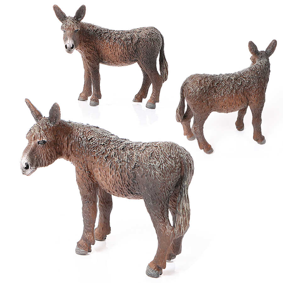 Simulação de Poitou burro Brinquedos Figuras de Animais Silvestres Jumento Selvagem Action Figure Modelo Brinquedos Educativos Presente para As Crianças