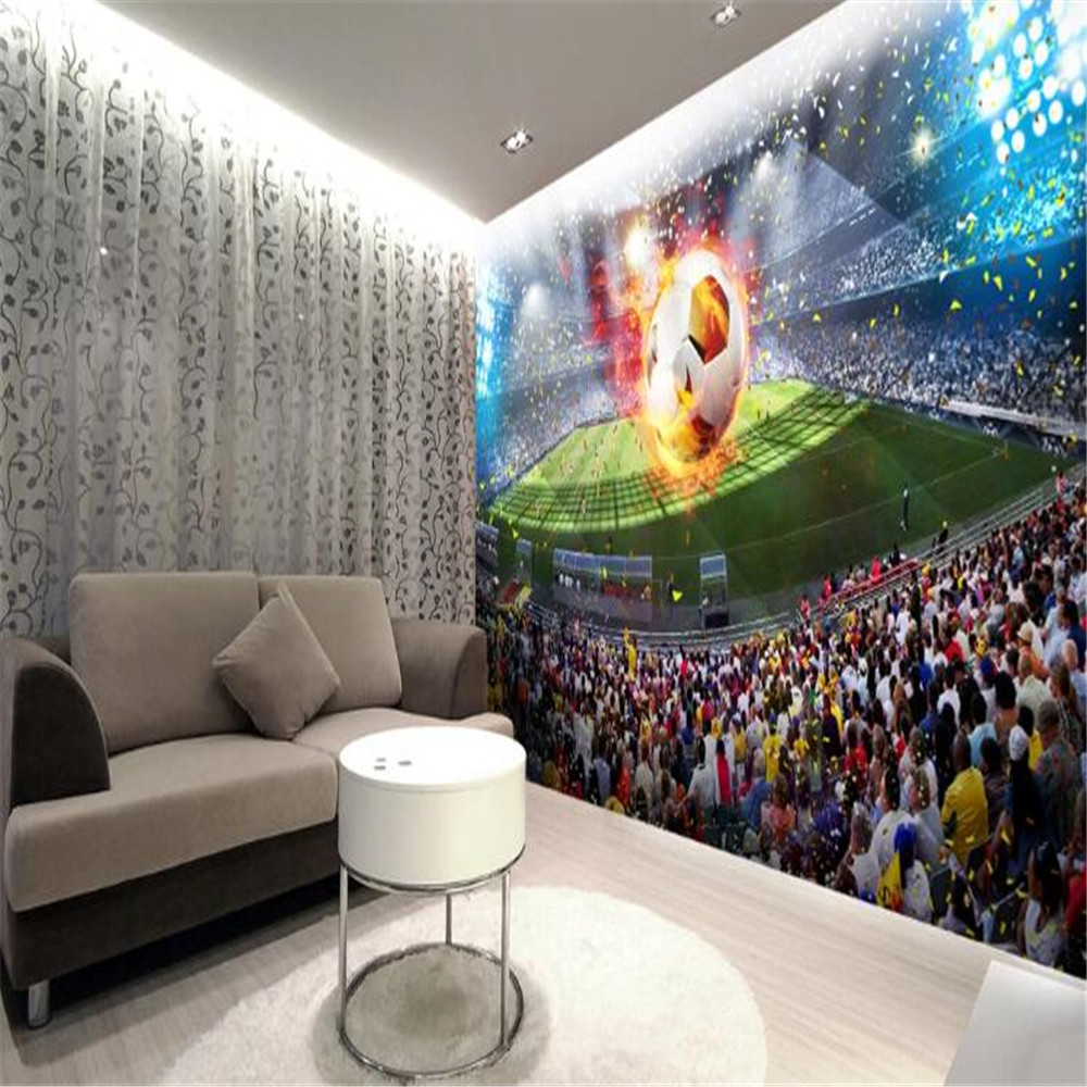 Milofi custom HD giant wallpaper mural large football field 3D background wall decoration painting