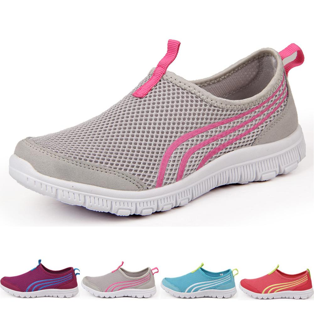 Men Running Shoes Jogging Mesh Sneakers Casual Shoes For Women Fashion Breathable Couple Sport Shoes Plus Size 35-48