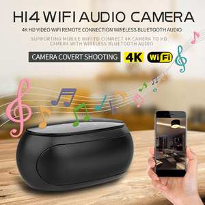 Camera Speaker Loop-Alarm Bluetooth Night-Vision Portable WIFI Security Outdoor Wireless