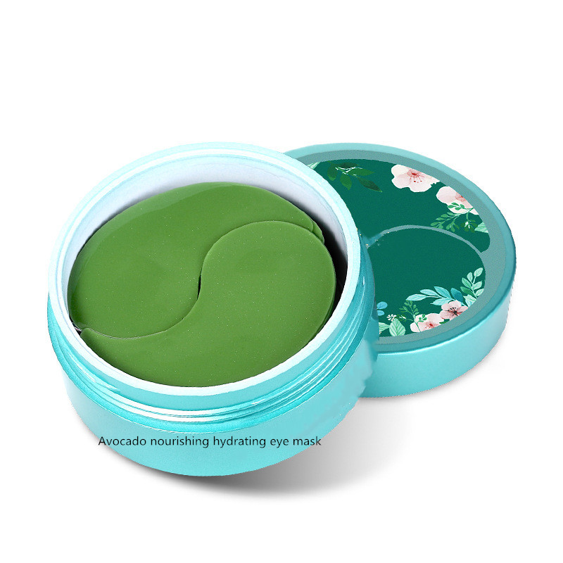 Avocado Eye Mask 60 Pieces Lightening Dark Circle Eye Bags Lightening Fine Eyes Eyes Firming Anti-Wrinkle Moisturizing