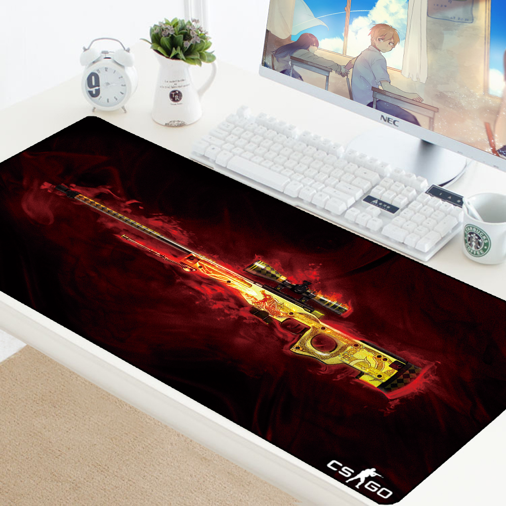 Large Game Mouse Pad Mat Laptop Gaming Mousepad Anti-slip Natural Rubber Grande Gamer Mouse Pad Fashion Office Desk Computer Pad image