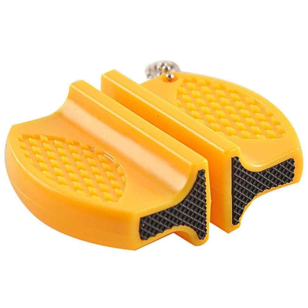 Мини керамический стержень точилка для ножей Двухступенчатая Вольфрамовая портативная точилка типа бабочки точильный камень заточка ножей камень