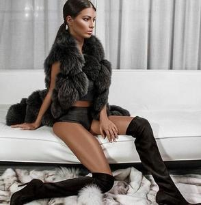 Image 3 - Vintage الساخن بيع النساء الفراء الحقيقي سترة مخصصة حجم كبير الفراء الحقيقي جيليتس جاكيتات الطبيعية الثعلب الفراء معطف