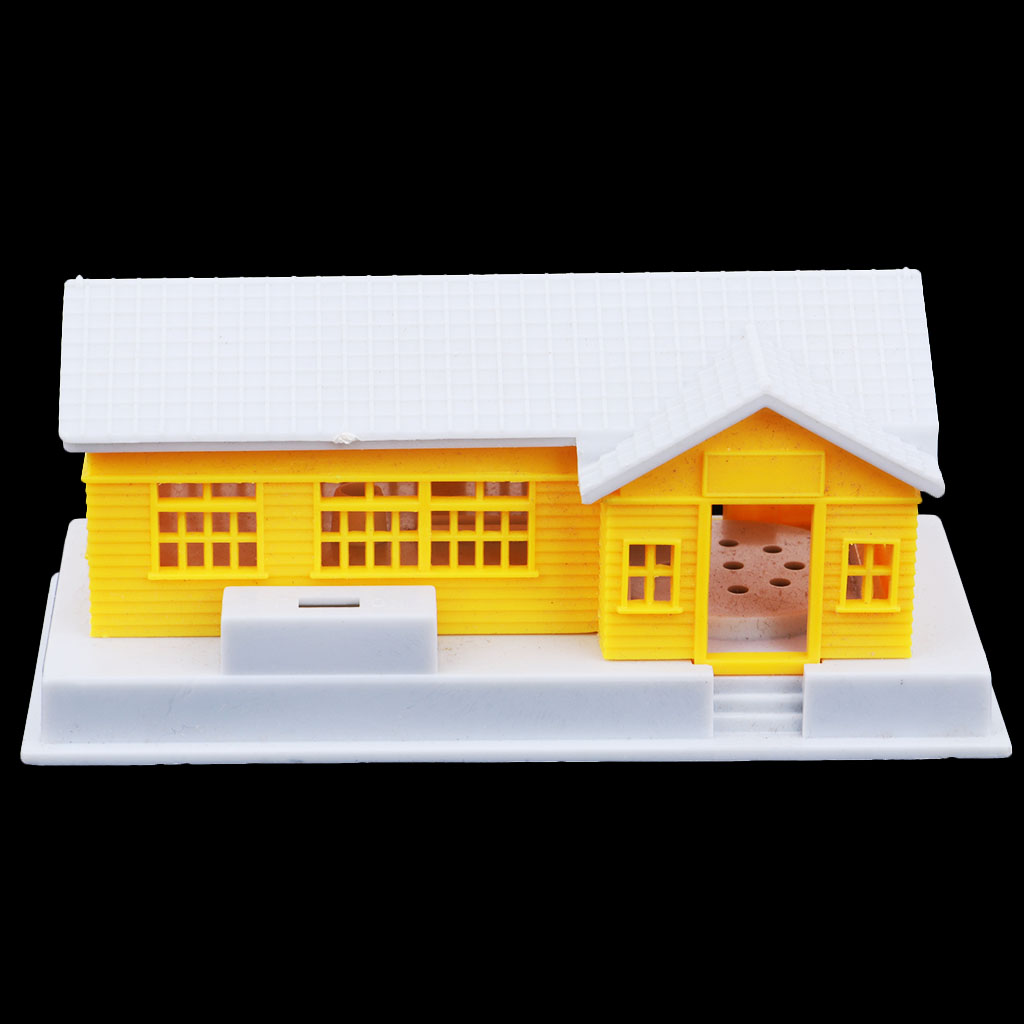 MagiDeal HO Scale Building House Model For 1:87 HO Gauge Model Train Layout
