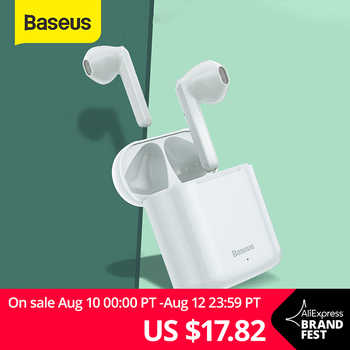Baseus W09 TWS Wireless Bluetooth Earphone Intelligent Touch Control Wireless TWS Earphones With Stereo bass sound Smart Connect 1