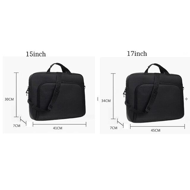 Torebka biznes teczka, torba na Laptop torba 15 17 cal Notebook torba na ramię Messenger laptopa dla Macbook Air Pro Thinkpad DELL