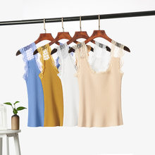Korean Top Sexy Lace collar stitching Camisole t-shirt Summer 2020 Sexy Slim Fit Sleeveless female Tops camisoles & Sling women(China)