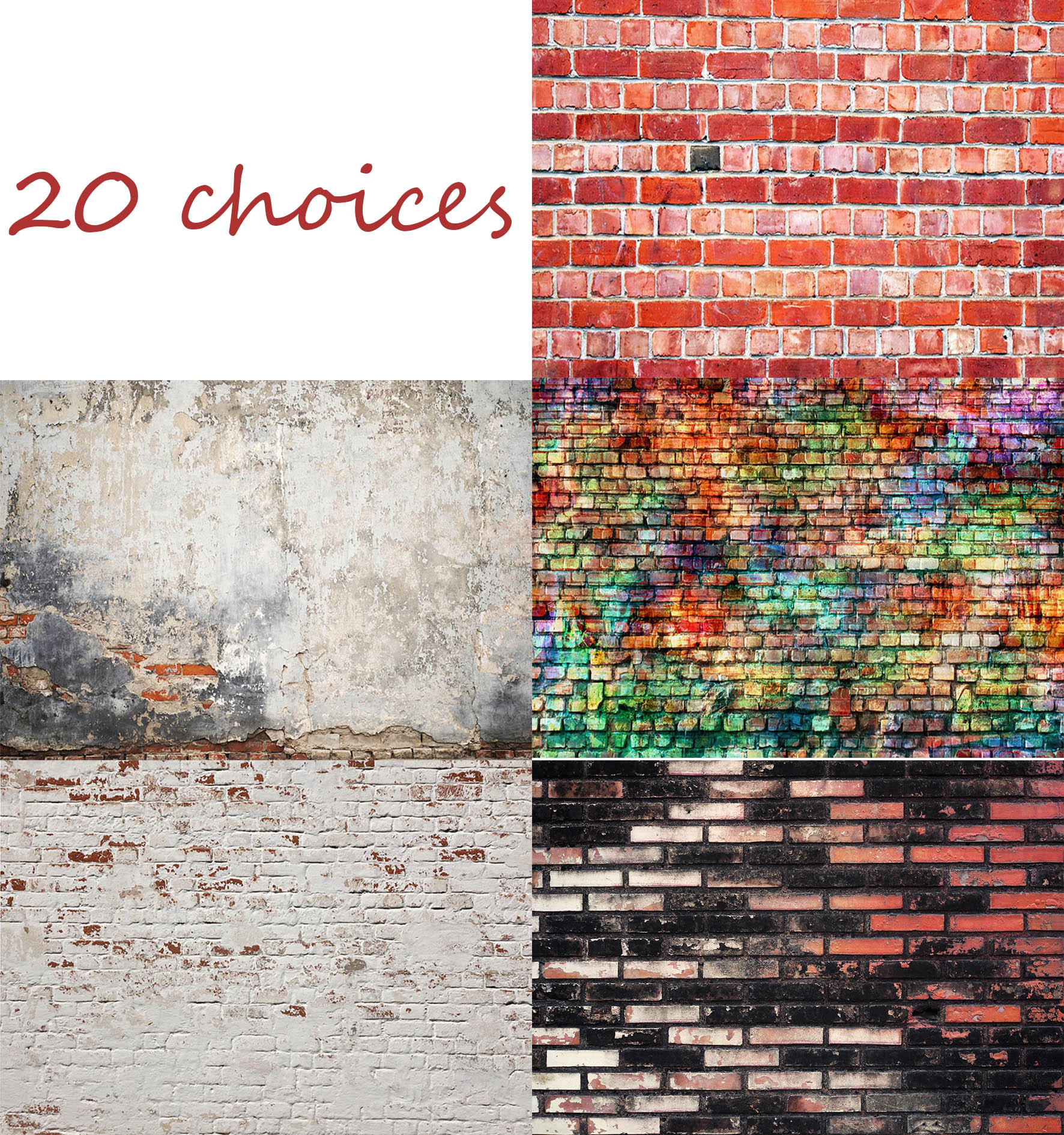 9x6ft Grunge Cement Wall Photo Backdrop Abstract Background for Photography Adults Newborn Baby Girls Boys Portrait Photo Booth Props