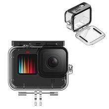 GoPro 9 45M עמיד למים מקרה מחשב קשה כיסוי מעטפת עדשת מגן צלילה שיכון מעטפת עבור GoPro גיבור 9 ספורט אביזרי מצלמה