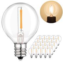 25pcs G40 1W LED String Lights Replacement Bulb E12 E14 LED