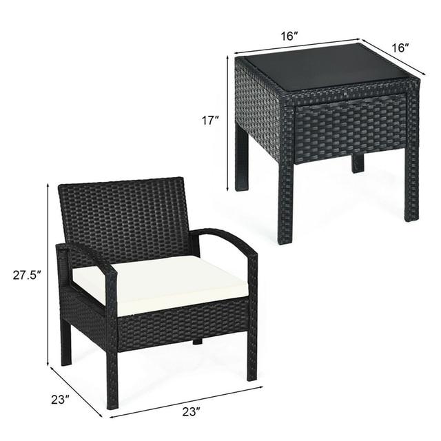 3 PCS Patio Garden Furniture Set  3