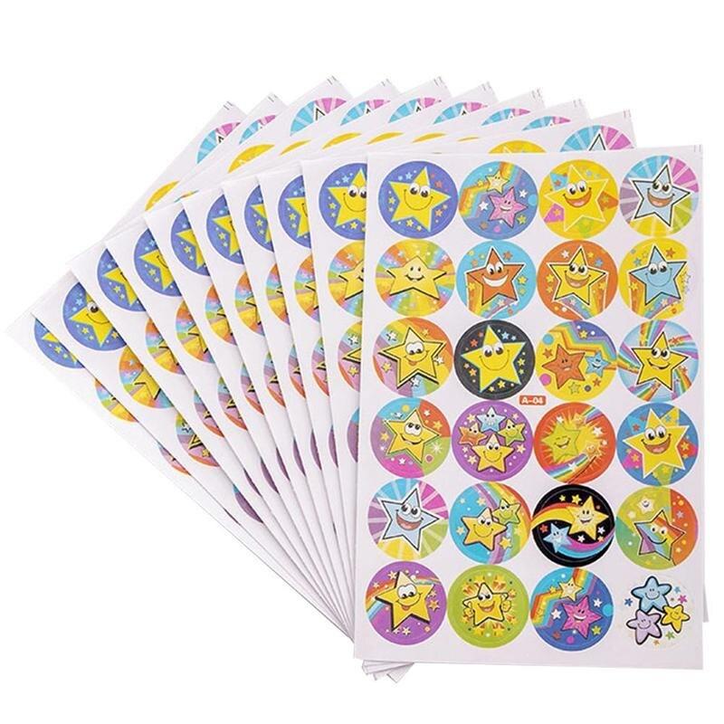 10pcs/lot Cartoon Bubble Stickers Child Reward Sticker Mother Teacher Praise Label Award Stickers Toys For Children