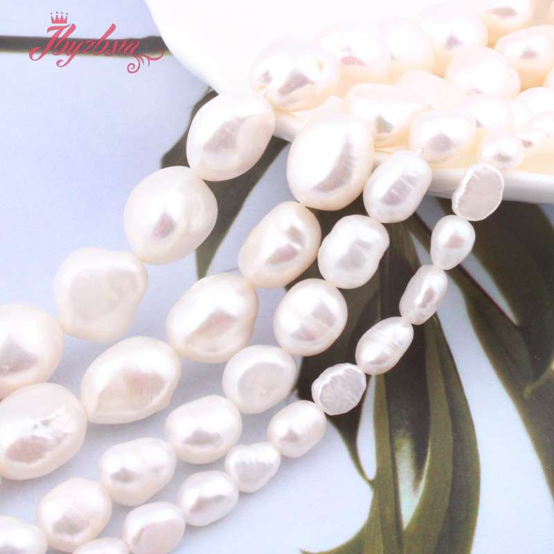 """5-7/8-9/9-10/10-11mm White Potato Freshwater Pearl Loose Natural Stone Beads For Women DIY Jewelry Making Necklace Bracelet 15""""(China)"""