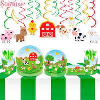 Jungle Party Farm Birthday Party Disposable Party Tableware Plate Cup Birthday Party Supplies Birthday Party Decoration Kids
