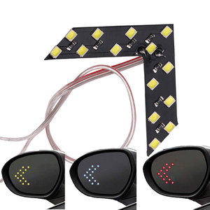 1x Car Styling LED Turn Signal Light Rear View Mirror Arrow Panels Indicator Light Rearview Mirror Signal bulb 12V 14 SMD Yellow