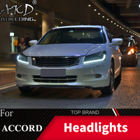 Car Styling Head Lamp Case For Honda Accord G8 2008 2013 Headlights Full LED Headlight DRL Lens Double Beam