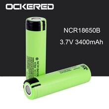 цена на Ockered Original NCR18650B 3.7v 3400mah 18650 Rechargeable Lithium Battery For Flashlight Batteries for Panasonic 18650 Battery