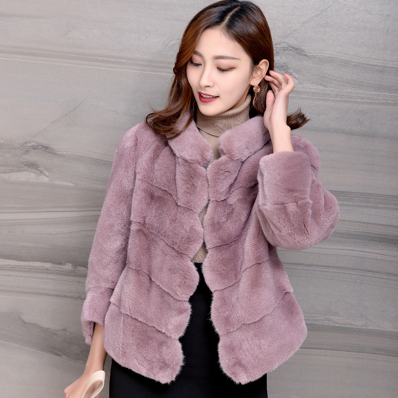 Fur Mink Real Coat Female Luxury Natural Full Pelt Fur Jacket 2020 Winter Jacket Women Korean Outwear Casaco Feminino MY