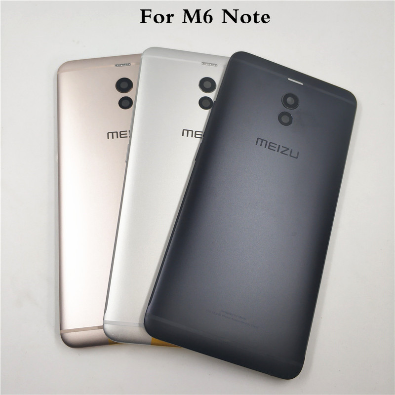 Original Housing For Meizu M6 Note Metal Battery Back Cover Mobile Phone Replacement Parts Case + Side Buttons + camera Lens