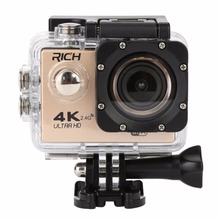 RICH F6 Action cameras WiFi Helmet Underwater Camera Waterproof Sports cameras 1080P 170D Len go 2 0 LCD HD Camcorder DV pro cheap For Home