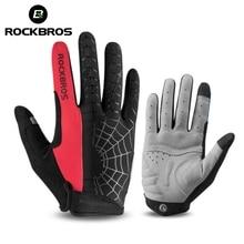 Guantes de Ciclismo de Invierno ROCKBROS, guantes de medio dedo transpirables para hombres y mujeres, guantes deportivos motocicleta MTB, bicicleta, guantes a prueba de viento